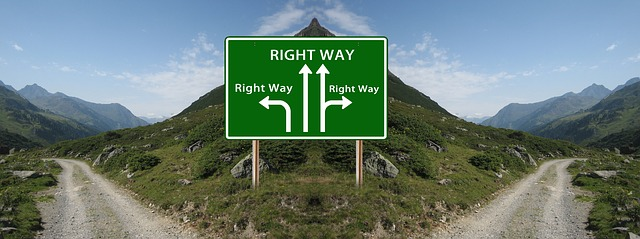 どっちの道が正しい?