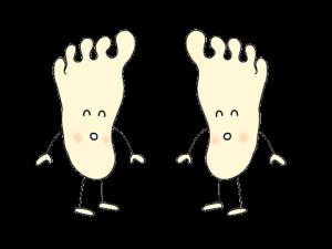 足の裏イラスト